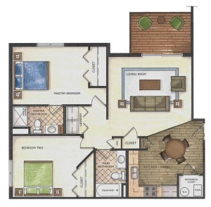 Floor Plan - Willow Falls Condos