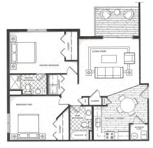 Floor Plan - Willow Falls Condos